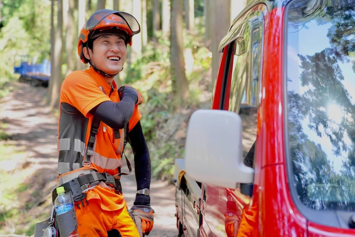 地元の人、ほぼ全員が山を持っている村で林業をはじめる